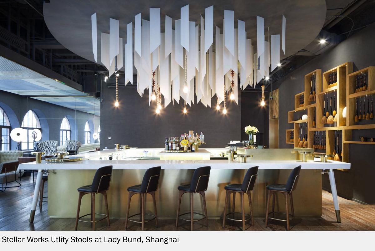 Lady Bund Restaurant at Shanghai With Stellar Works Stools
