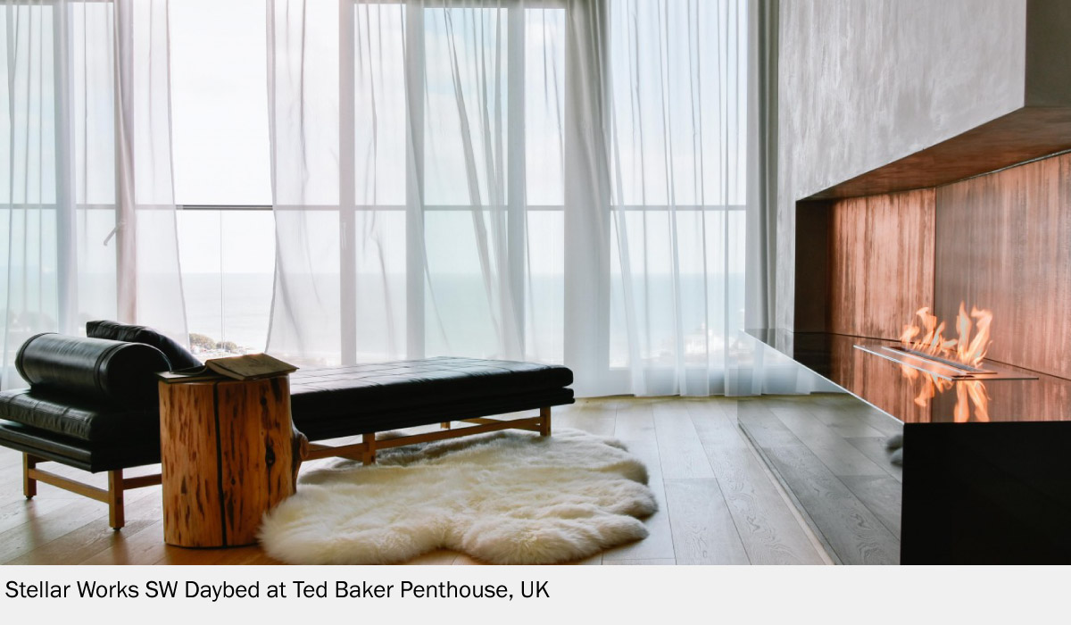 Penthouse in United Kinfdom With Stellar Works Daybed