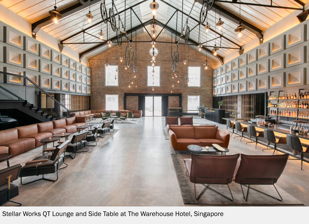 The Warehouse Hotel in Singapore With Stellar Works QT Lounge and Side Table
