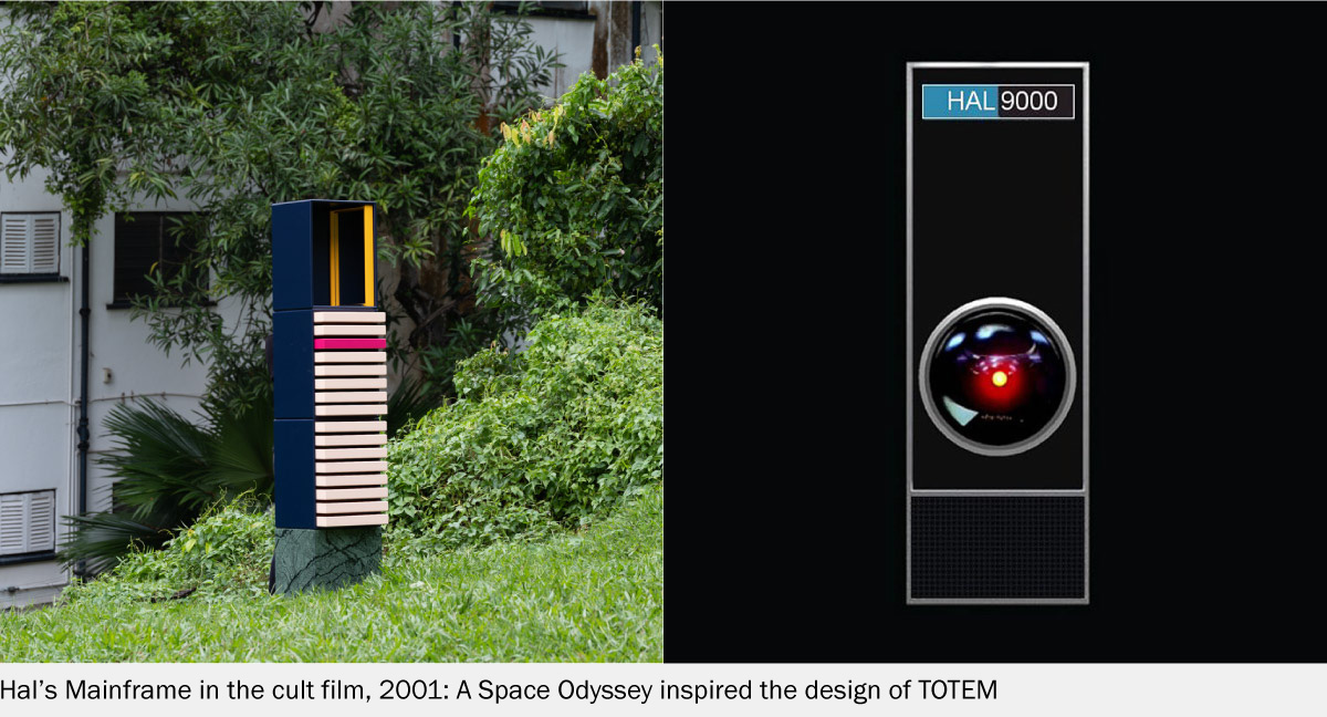 A Space Odyssey inspired the design of TOTEM