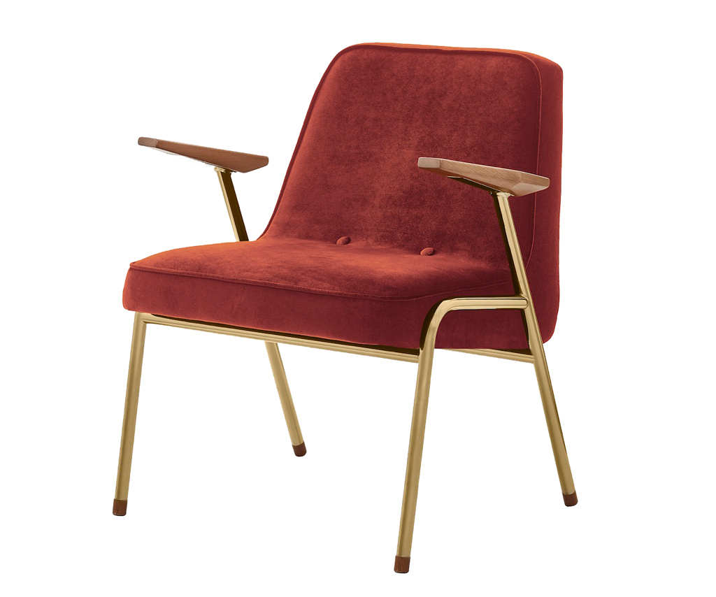 366 Concept Metal Armchair Red