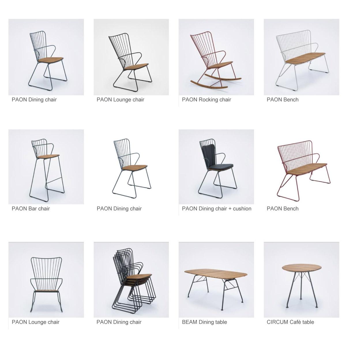 PAON, BEAN and CIRCUM Outdoor Furniture