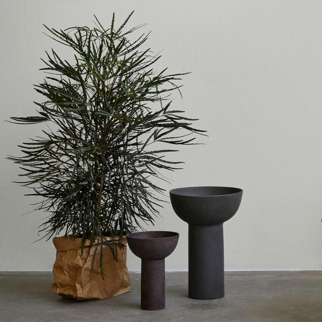 101 Copenhagen Block Vase on the floor near plant