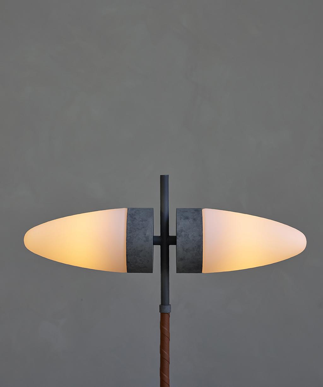 101 Copenhagen Oxidised Bull Floor Lamp glows