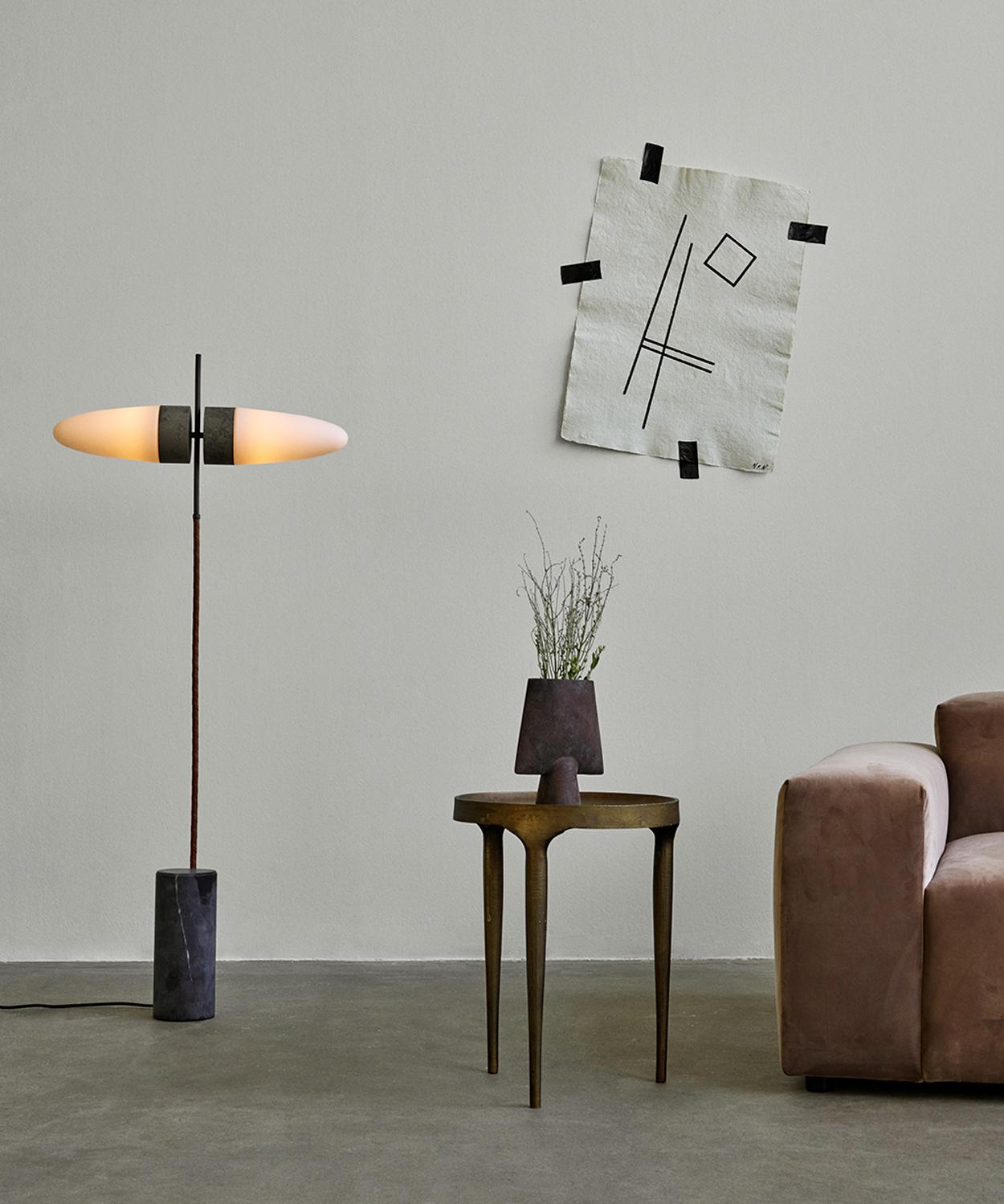 101 Copenhagen Oxidised Bull Floor Lamp in the interior