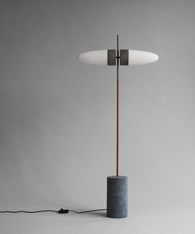 101 Copenhagen Oxidised Bull Floor Lamp oin a room