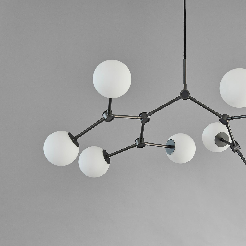 101 Copenhagen Drop Chandelier Lamp Oxidized