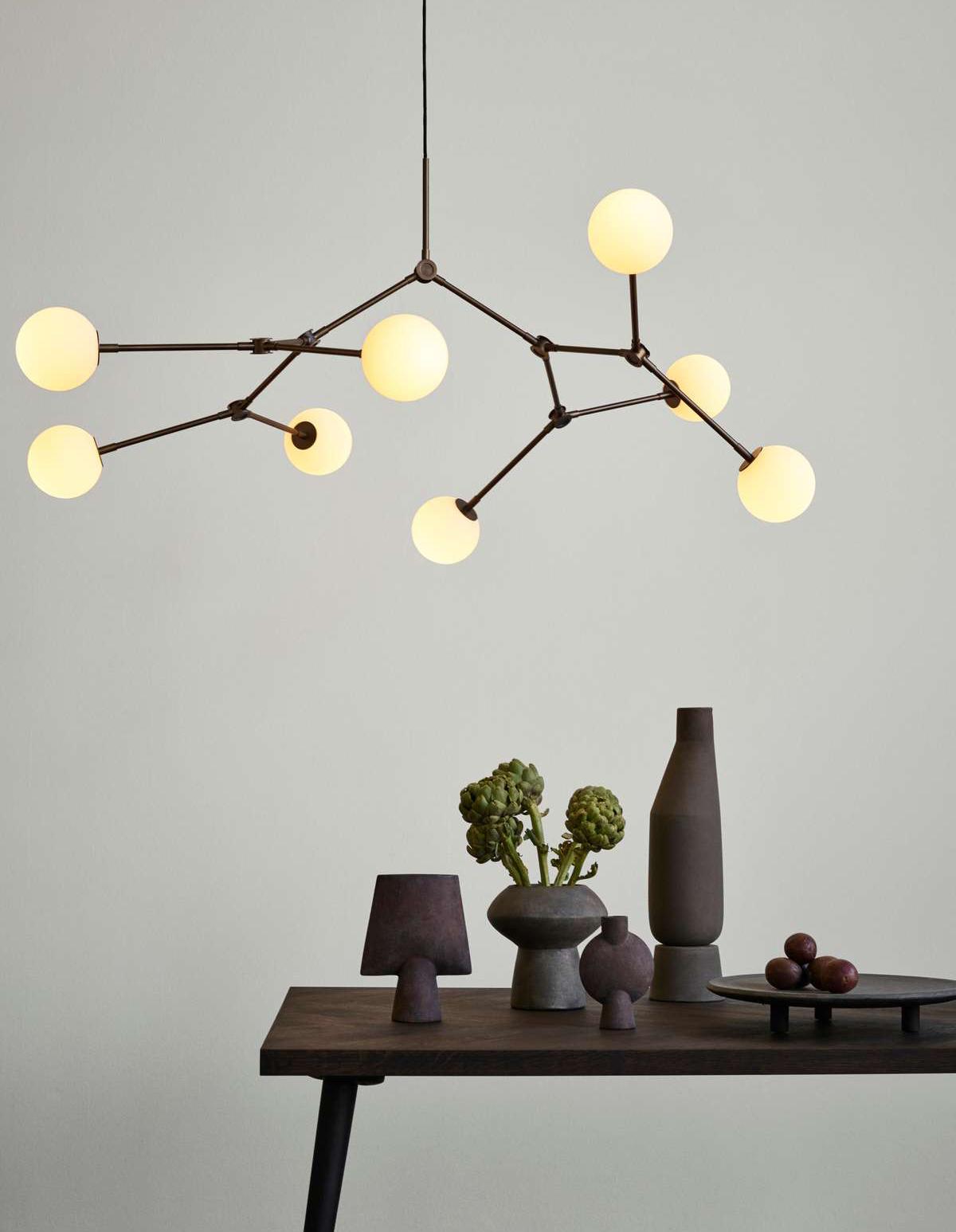 101 Copenhagen Drop Chandelier Lamp With Interior