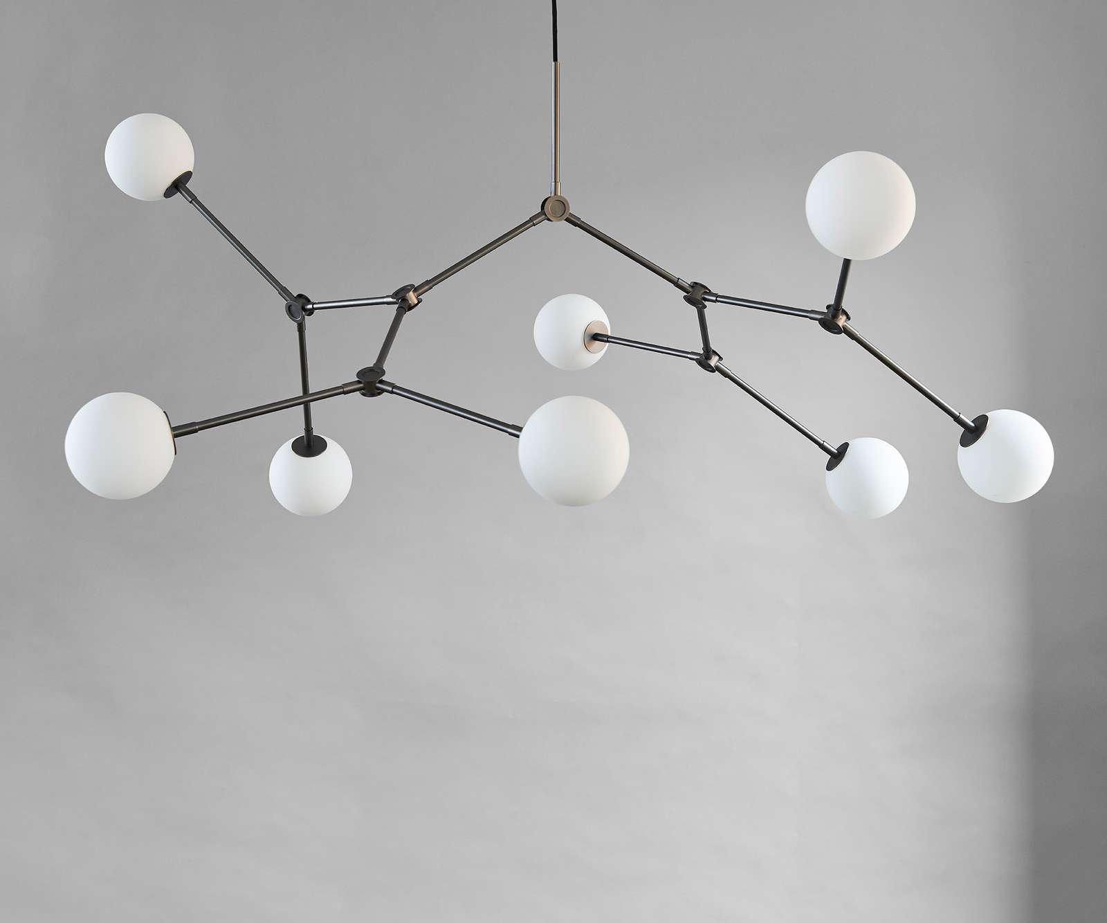 101 Copenhagen Drop Chandelier Lamp In the Room