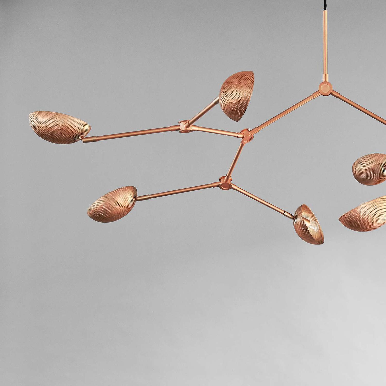 101 Copenhagen Drop Chandelier Lamp Rose