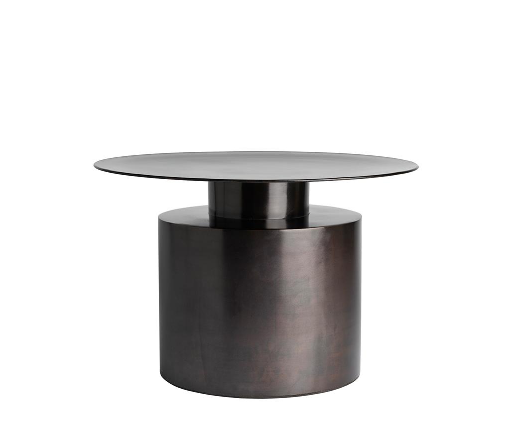 101 Copenhagen Pillar Coffee Table Low Burned Black