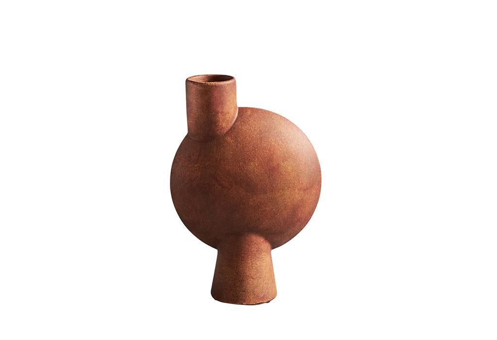 101 Copenhagen Sphere Vase Bubl Medio Terracotta