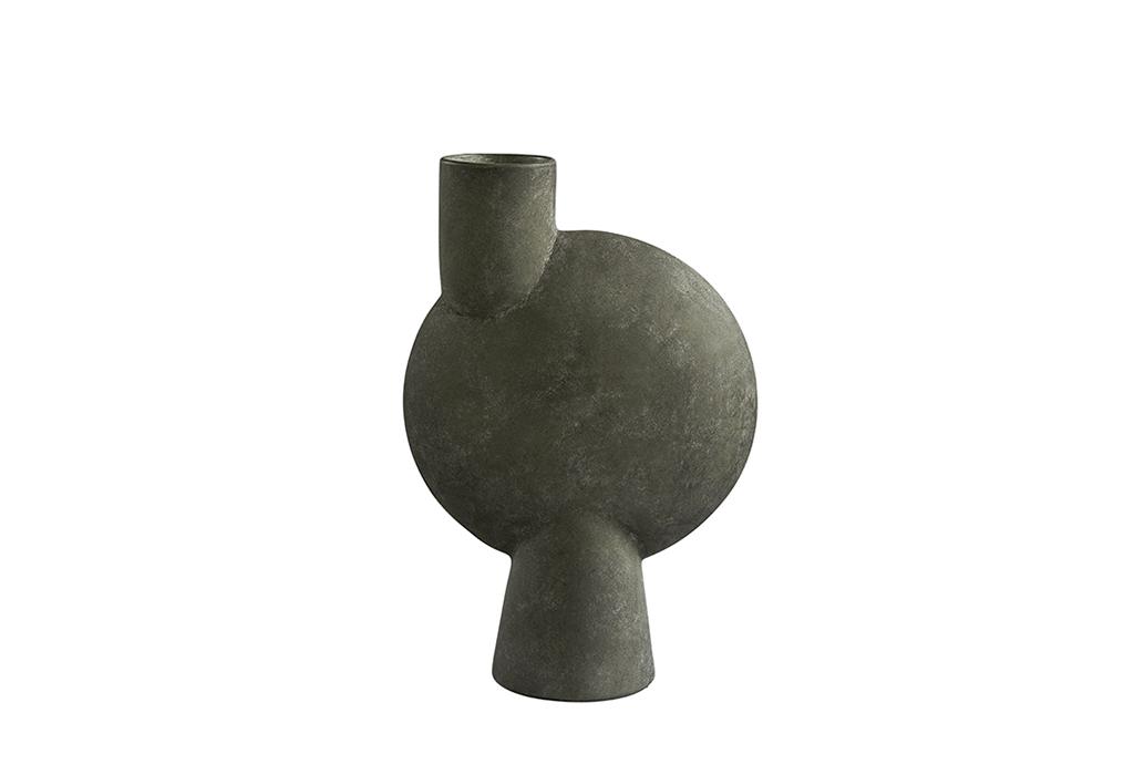 101 Copenhagen Sphere Vase Bubl Medio Dark Grey