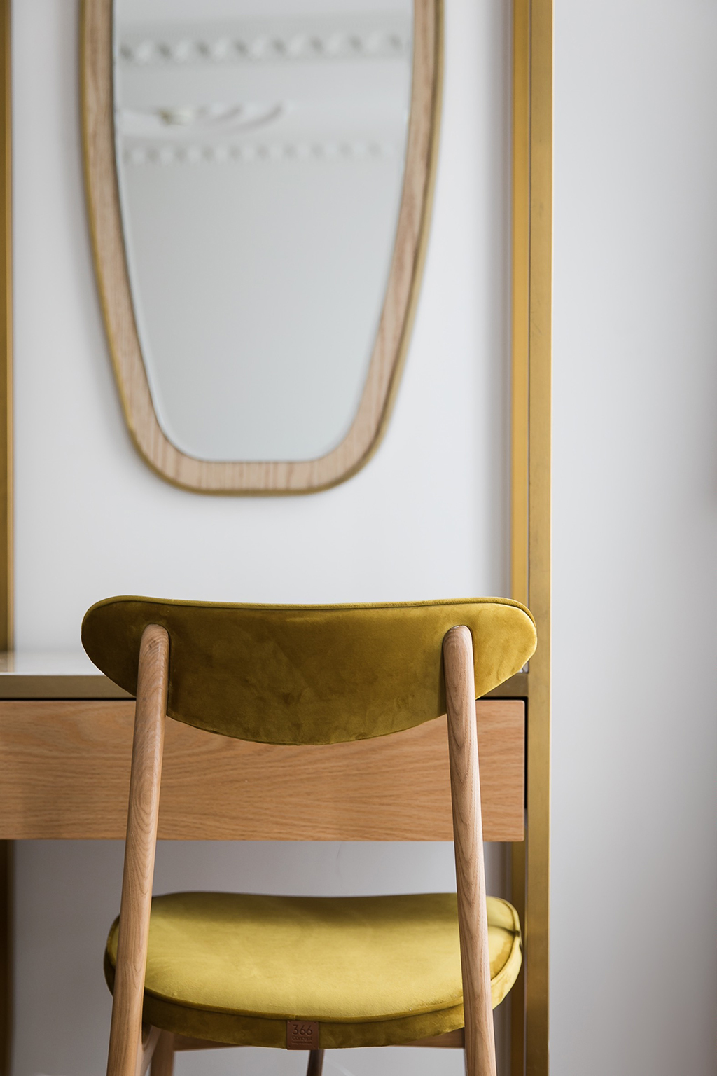 366 Concept 200-190 Dining Chair Yellow In a Room