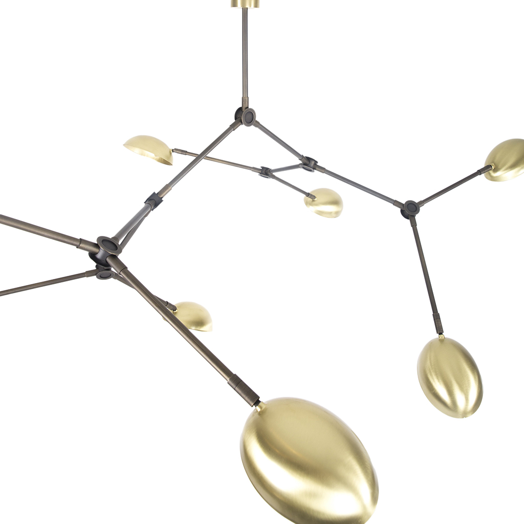 101 Copenhagen Drop Chandelier Lamp Gold