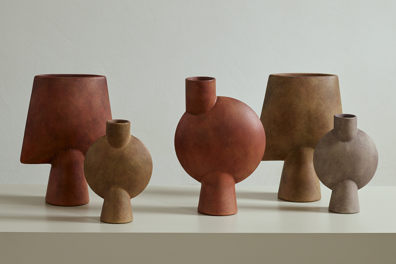 101 Copenhagen Sphere Vase Square Terracotta image 5
