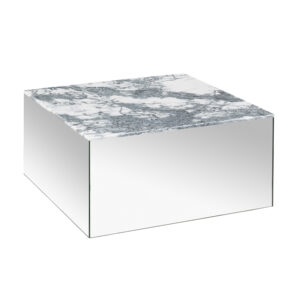Kristina Dam Studio Mirror-Table_Grey-Marble_Large