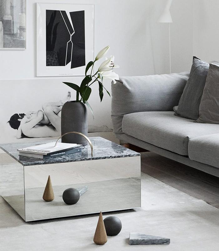 Kristina Dam Studio Mirror-Table_Grey-Marble_Large