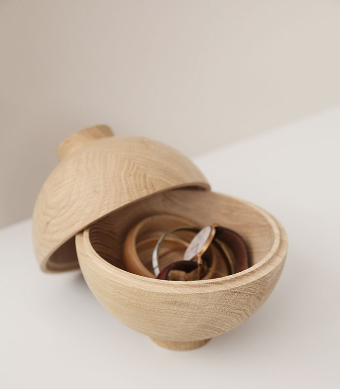 Kristina Dam Studio Wooden Sphere Oak