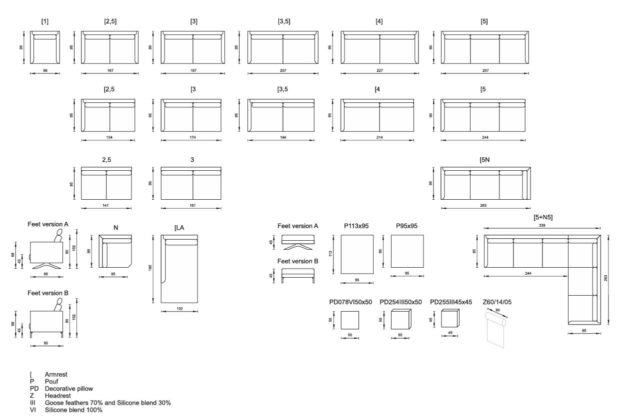 Olta_DIVA sofa_configuration
