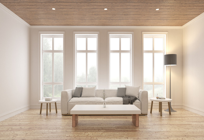 home interior with wooden furnishing