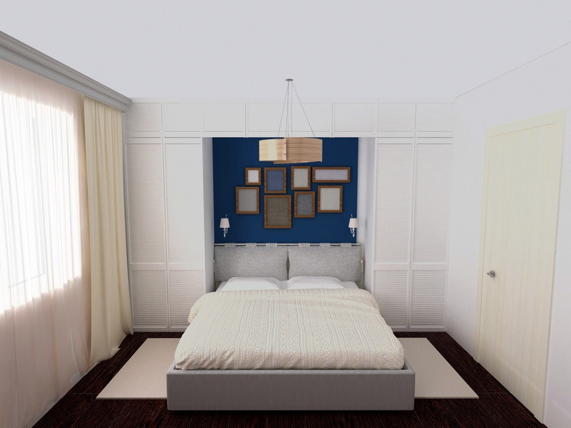 small bed in small bedroom