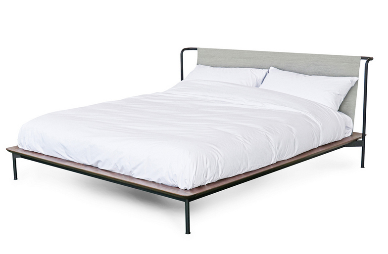 bed with thin legs