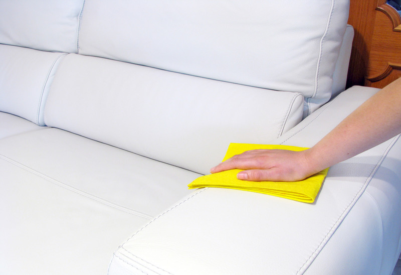 how to clean a white leather sofa